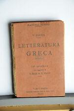 1931 -  MANUALE HOEPLI - VIGILIO INAMA - LETTERATURA GRECA