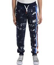 New listing Tommy Hilfiger Big Boy Courtney Splatter Print fleece Sweatpants size 7 Navy Nwt