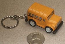 "Mini School Bus Keychain (with pullback motor) 2"" NEW"
