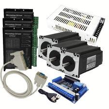 NEMA23 1.8Nm 3Axis 255oz.in Stepper Motor Drive Kit&Power Supply&Breakout Board