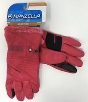 Manzella Embree Outdoor Gloves, Women's, Medium, Pink/Black
