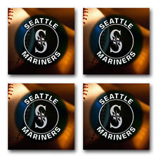 Seattle Mariners Baseball Rubber Square Coaster set (4 pack) SRC2024