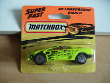 Matchbox Lamborghini Diablo in Yellow on Blister
