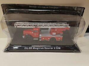 DL 30 Magirus Saurer 2 DM Fire Engines de agostini model Car present 1/72 scale