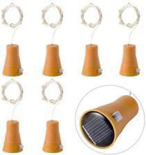 6pcs 10 LED Solar Cork Wine Bottle Fairy Light With 1M Copper Wire Shape