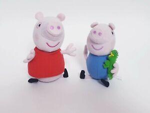 Genuine Peppa Pig and George Pig with Dinosaur Plush Toy 15cm Kids Plushy