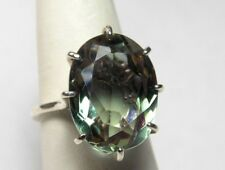 11.00+  ct  WOMEN'S RING LAB GREEN ALEXANDRITE 100% COLOR CHANGE