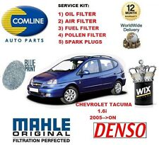 FOR CHEVROLET TACUMA 2005-->ON OIL AIR FUEL POLLEN FILTER + SPARK PLUGS SERVICE