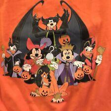 DISNEY VILLAINS Dog T-Shirt Happy Halloween Costume Orange SZ Large - RETIRED