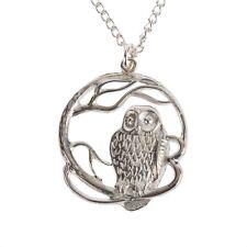 Cornish Jewellery. Polished Tin Pewter Owl Necklace, lovely Cornish Gift