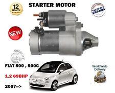 FOR FIAT 500 + 500C 1.2 69BHP 312 2007 > NEW STARTER MOTOR UNIT