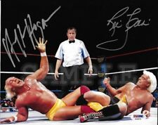 Hulk Hogan / Ric Flair signed 8x10 Autograph Photo RP - Free Shipping! WWF WWE