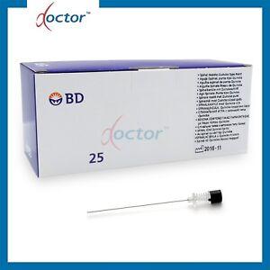 25 Aghi per anestesia spinali sterili con punta Quincke BD 20G/22G - ago spinale