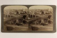Italia Roma Il Vecchio Tiber E Son Isola 1905 Foto Stereo Vintage Albumina