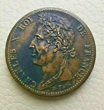 N°55  - GUYANE - COLONIES FRANÇAISES - CHARLES X - 10 CENTIMES 1828 A