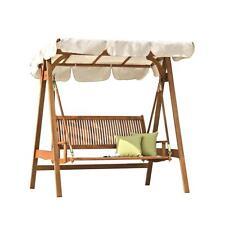 dondolo altalena da esterno giardino legno teak divano seduta