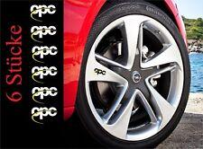 6x Opel OPC line Aufkleber Aluminiumfelge, Türgriff Logo Astra Corsa Insignia...