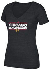 """Chicago Blackhawks Women's Adidas NHL """"Dassler"""" Tri-Blend Premium T-shirt"""