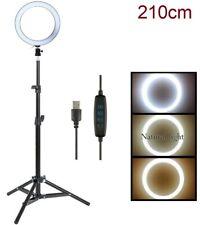 Luz LED Regulable, Anillo de Luz LED de 20cm + Tripode 2,1mts 2700K/5500K