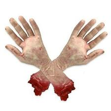 2Pcs Body Parts Halloween Props Fake Hands, Bloody Severed Arm Hands, Realistic