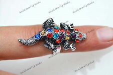 Wholesale Lots Mixed Jewelry 10pcs Animal rhinestone Silver Plated Rings FREE