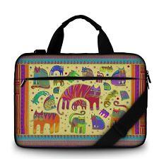 "Luxburg® 17"" Luxury Design Laptop Canvas Bag with Shoulder Strap & Handle #II"