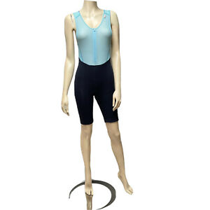 Rapha Bib Cycling Shorts Padded Womens Small Navy Light Blue One Piece Italy