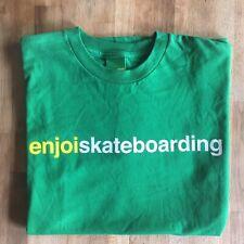 "ENJOI Skateboards ""Enjoi Skateboarding"" Green T-Shirt S Barletta Hsu MJ Supreme"