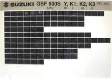 Suzuki GSF600S Bandit 2000 2001 2002 2003 Parts Microfiche s338a