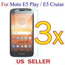 3x Clear LCD Screen Protector Guard Cover For Motorola Moto E5 Play / E5 Cruise