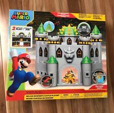 Bowser Deluxe Castle Playset Super Mario Fireballs Hidden Traps Action Figure