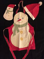 Snowman Kids 3-Piece Cotton Chef Set with Apron, Hat and Oven Mitt Ages 7-12