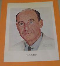 Norman Rockwell ADLAI STEVENSON & NEW GLASSES 1956 Original Book Pressing Print