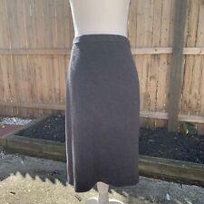 Luisa Spagnoli Grey Wool Pencil Skirt Size 48