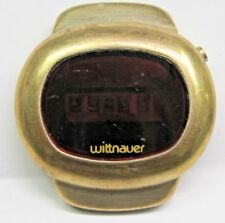 Vintage Gents Wittnauer LCD Digital Yellow Gold Filled Wrist Watch.