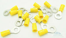 "25 Molex 1/4"" Stud Ring Terminal 12-10 AWG Yellow Vinyl Insulated 19070-0132"