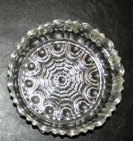 Vintage Depression Glass Anchor Hocking Old Cafe Candy Dish no Lid Excellent !