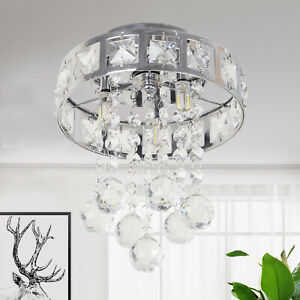 New High Luxury Crystal LED Ceiling Light Lamp Fitting Pendant Chandelier Decor