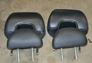 2006 Honda Accord V6 Coupe Head Rests Black Leather Head Rest Front Rear Seats