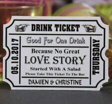 Personalised Wedding Favour Gift Tags Drink Tickets 1st drink Favour Token TG38