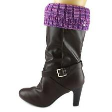 6f00f0b3b62 BEARPAW Women s Accessories Knit Cuff Boot Topper Pom Berry