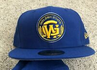 Golden State Warriors New Era Blue 5950 59FIFTY Fitted Hat 7 5/8