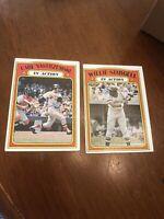 2card Lot 1972 Topps Carl Yastrzemski IA #38 & Willie Stargell #448Baseball Card