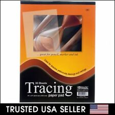 30 sht TRACING PAPER PAD 9x12 Quality Sketch Book Pencil Drawing Art Overlay