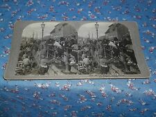 Old Stereovew Universal Photo Art 8004 The Fish Wharves Bergen Norway