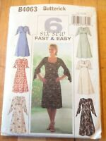Vintage 2003 Sewing Pattern Flared Dress w/Sleeve Variation Size 12-14-16 Uncut