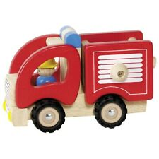 GOKI Feuerwehr Holzspielzeug Kindersielzeug Holz Spielzeug Feuerwehrauto