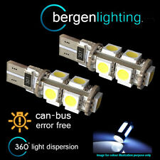 2x W5W T10 501 Canbus Libre De Errores BLANCO 9 BOMBILLAS LED para matrícula
