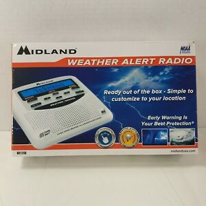 Midland WR120B NOAA Emergency Weather Alert Radio with Alarm Clock White NEW