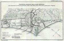 Roma: Planimetria Generale della Plaga Litoranea. Carta Foce del Tevere. 1894